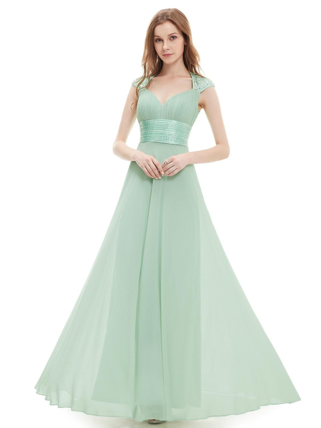 V neck sequins chiffon ruffles empire line evening bridesmaid v neck sequins chiffon ruffles empire line evening bridesmaid dress ombrellifo Gallery
