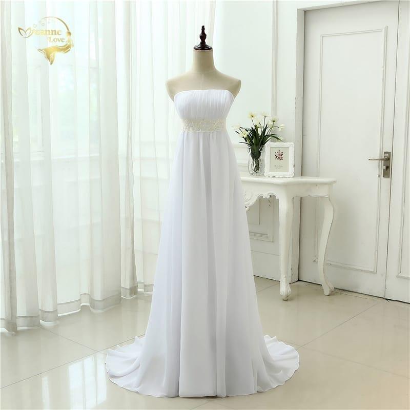 Empire Chiffon Long Wedding Gown
