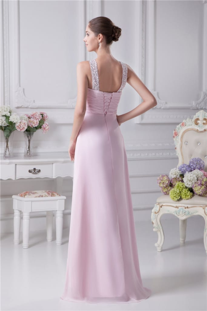 Long Evening Sweetheart Dress back