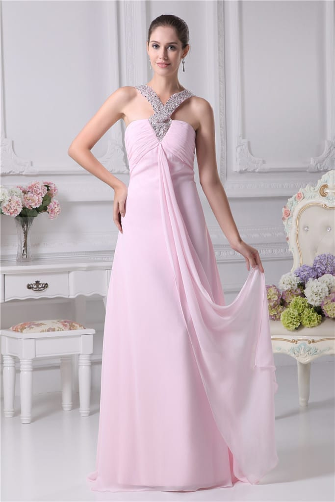 Long Evening Sweetheart Dress front