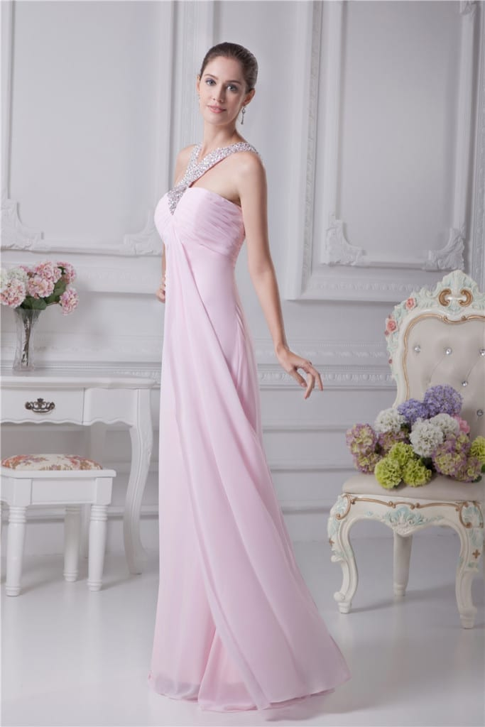 Long Evening Sweetheart Dress side