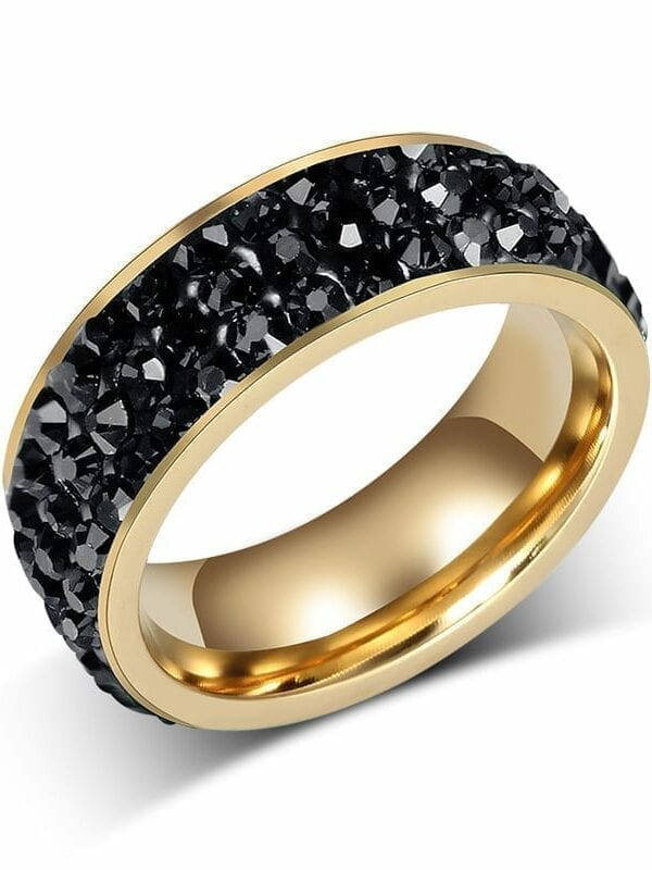 18k gold plated stainless steel wedding rings for women for Wedding gold rings for women