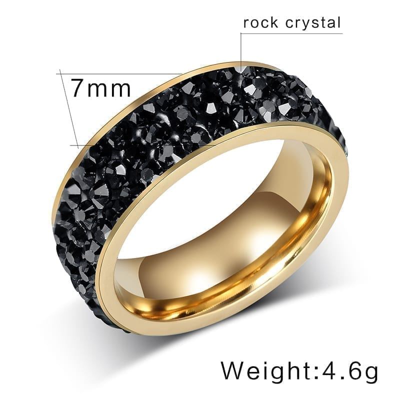 18K Gold Plated Stainless Steel Wedding Rings For Women size