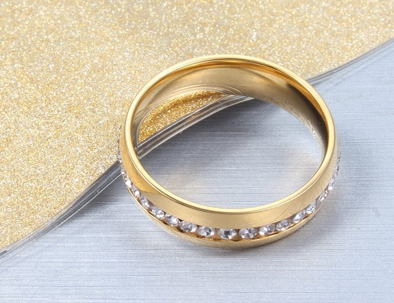 18k gold plated crystal wedding ring for women gold2