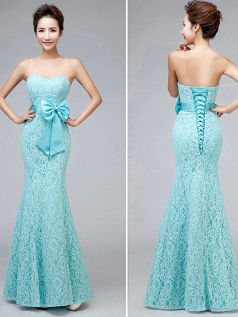 Charmming Chiffon with Top Sequin Bridesmaid Dress - Uniqistic.com