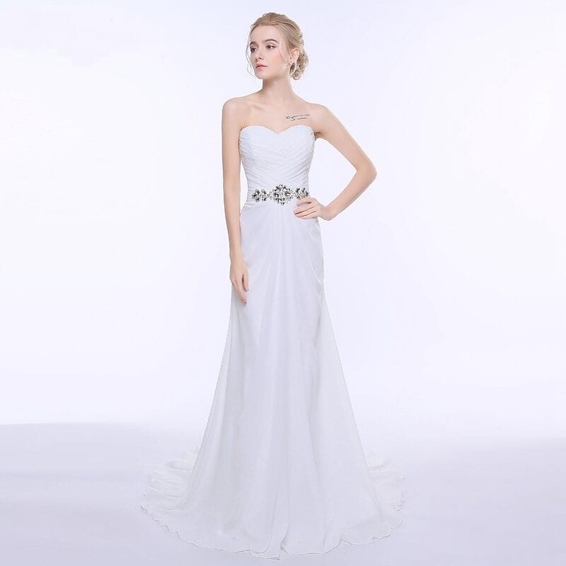 Chiffon Beach Vintage Bridal Gown