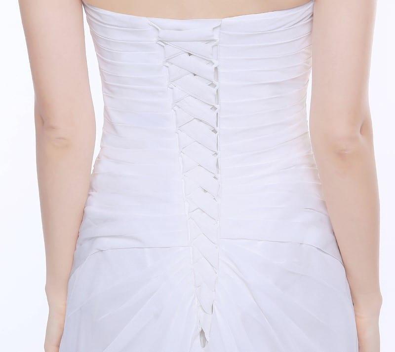 Chiffon Beach Vintage Bridal Gown