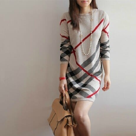 Wool Pullover Dress