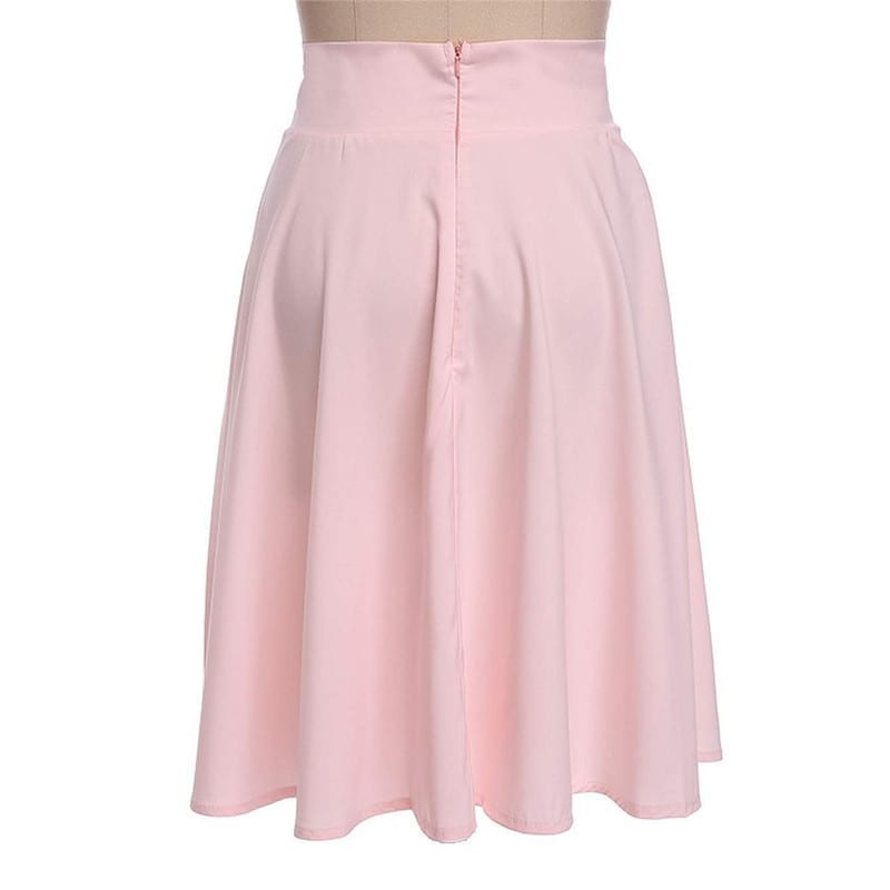 Knee Length A-line Flared Full Swing Skirt