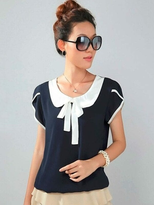 Chiffon Peter Pan Collar Blouse