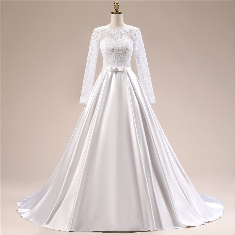Elegant Simple Long Sleeve Wedding Dress Uniqistic Com