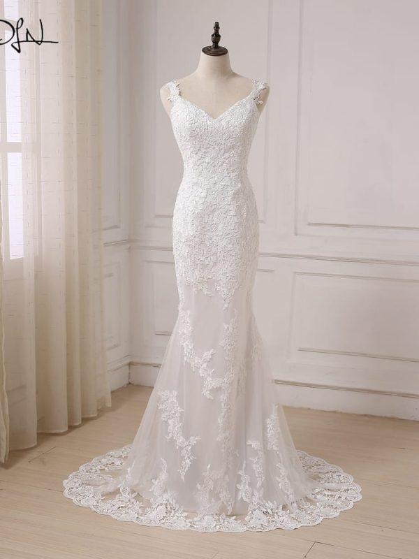 Backless Lace Mermaid Wedding Dress