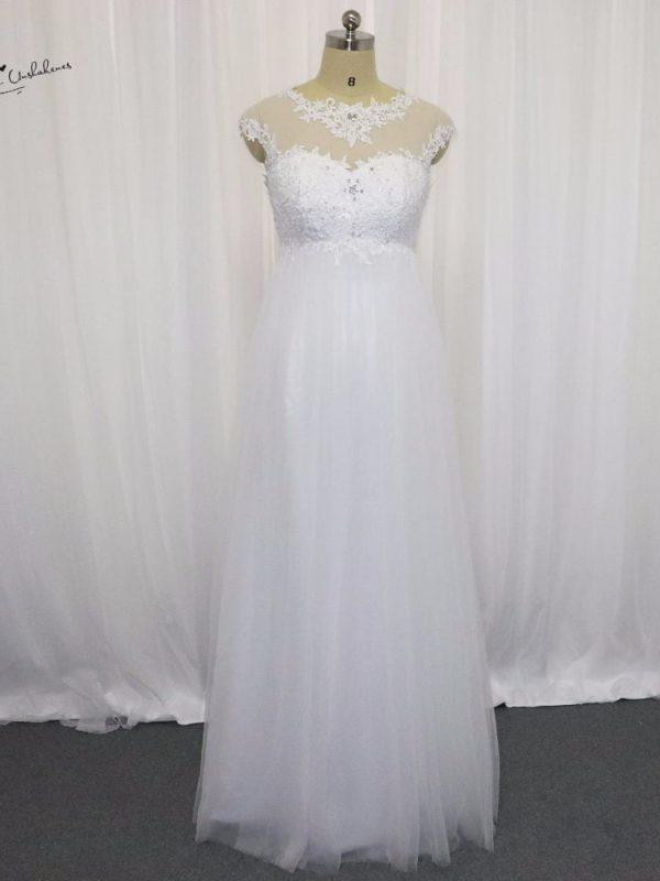 Lace Tulle Maternity Wedding Dress
