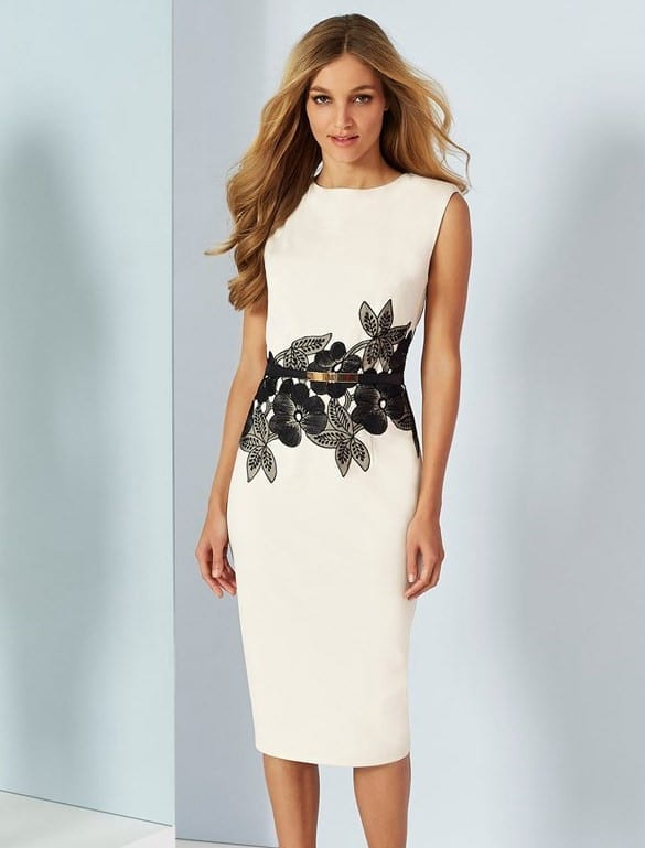Floral Waistband Elegant Dress