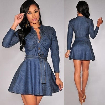 Slim Fit Denim Jean Dress
