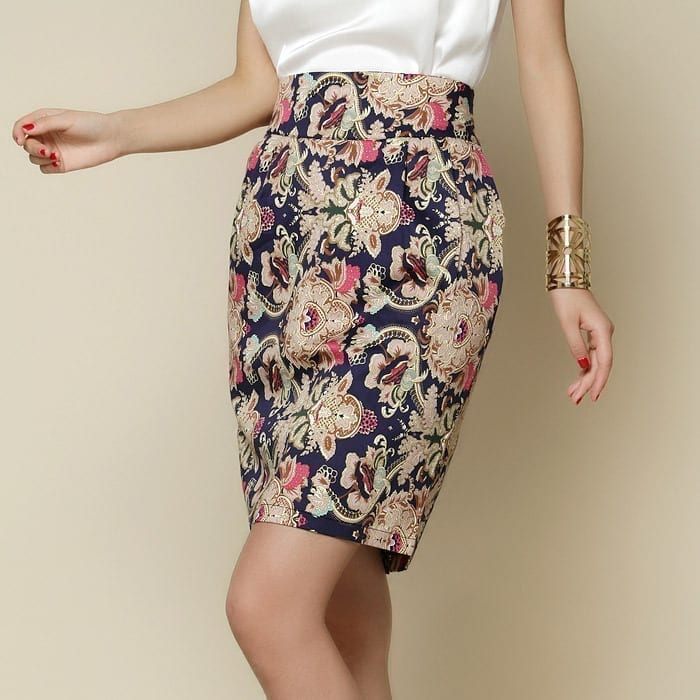 Vintage Patterns Floral Skirt
