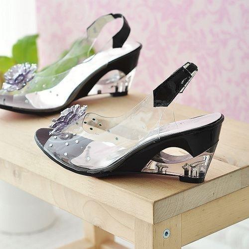 Transparent Women High-heeled Sandals