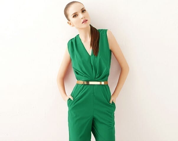 Big V Neck Full Length Jumpsuit