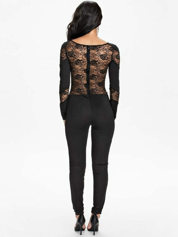 Long Sleeve Overalls With Lace Bodysuit