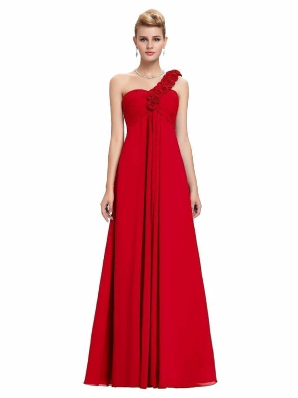 Floor Length Chiffon Elegant Bridesmaid Dress