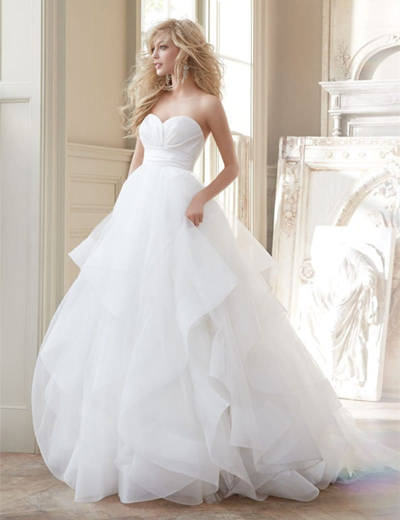 A-line Taffeta Organza Wedding Dress