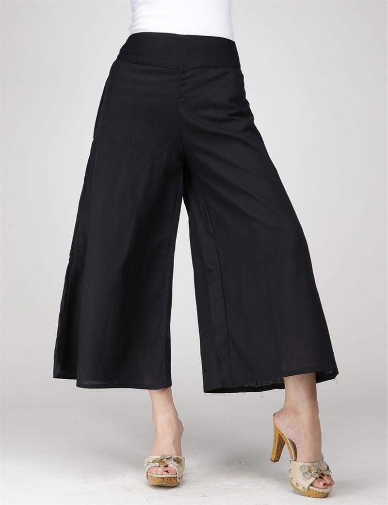 Long Casual Drawstring Trousers