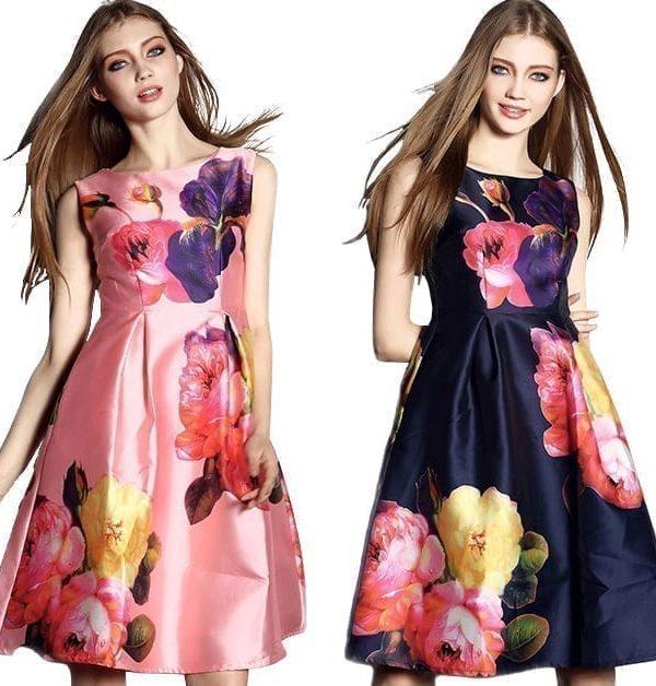 Elegant Fashion Print Tank Dress