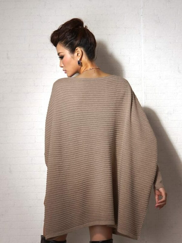 Long Mantle Batswing Sleeve Pullovers Female Poncho