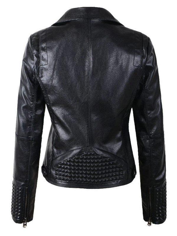 Women Leather Rivet Jackets