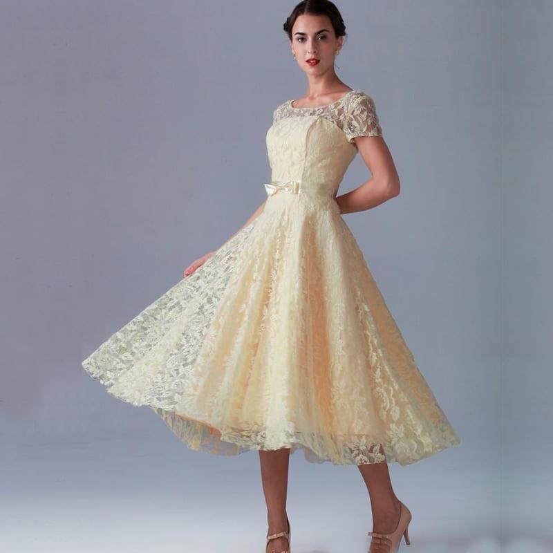 Tea length zipper back a line short sleeve beach lace for Wedding dresses short length