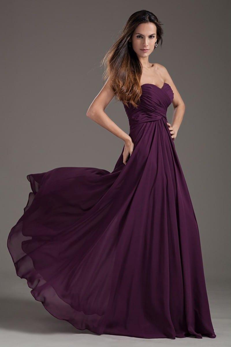 2b86f3765ff Floor Length Sweetheart Pleated Lace up Prom Dress - Uniqistic.com