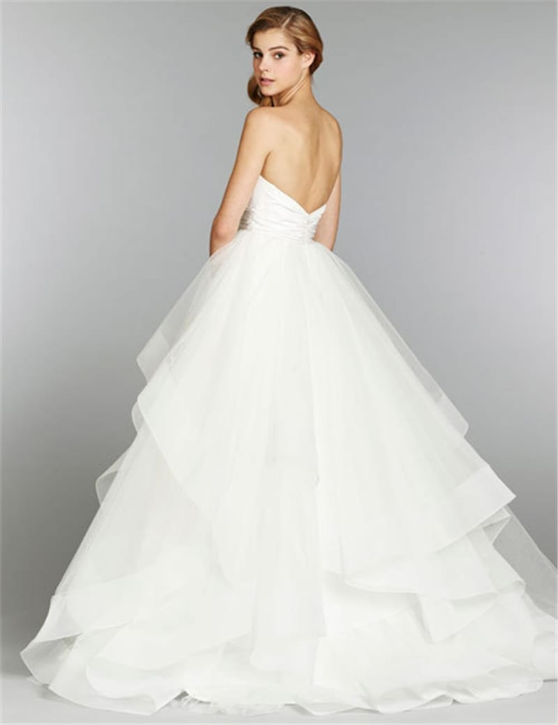 A line taffeta organza wedding dress uniqisticcom for Organza a line wedding dress