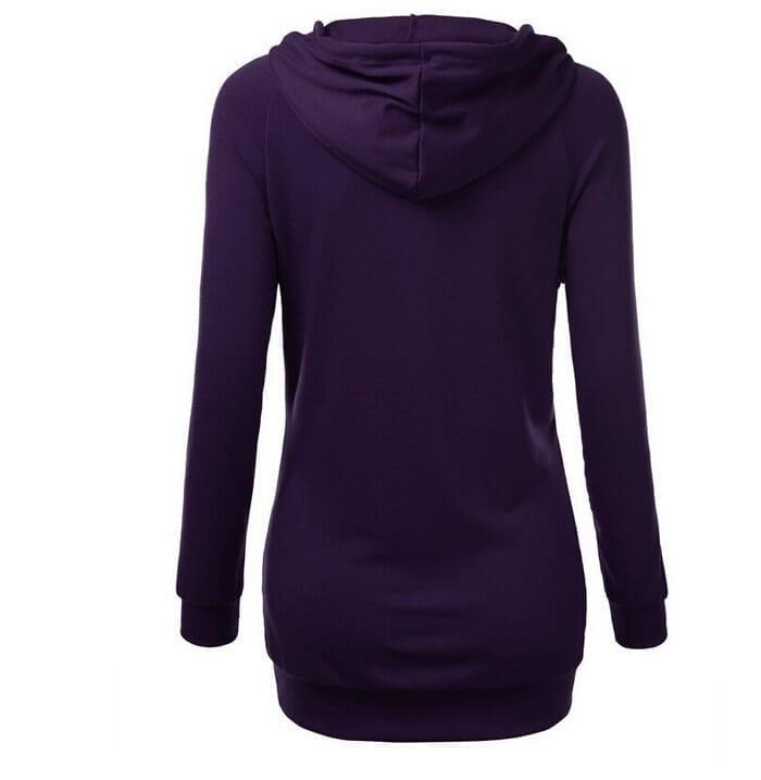 Long Sleeve Crewneck Tunic Sweatshirt