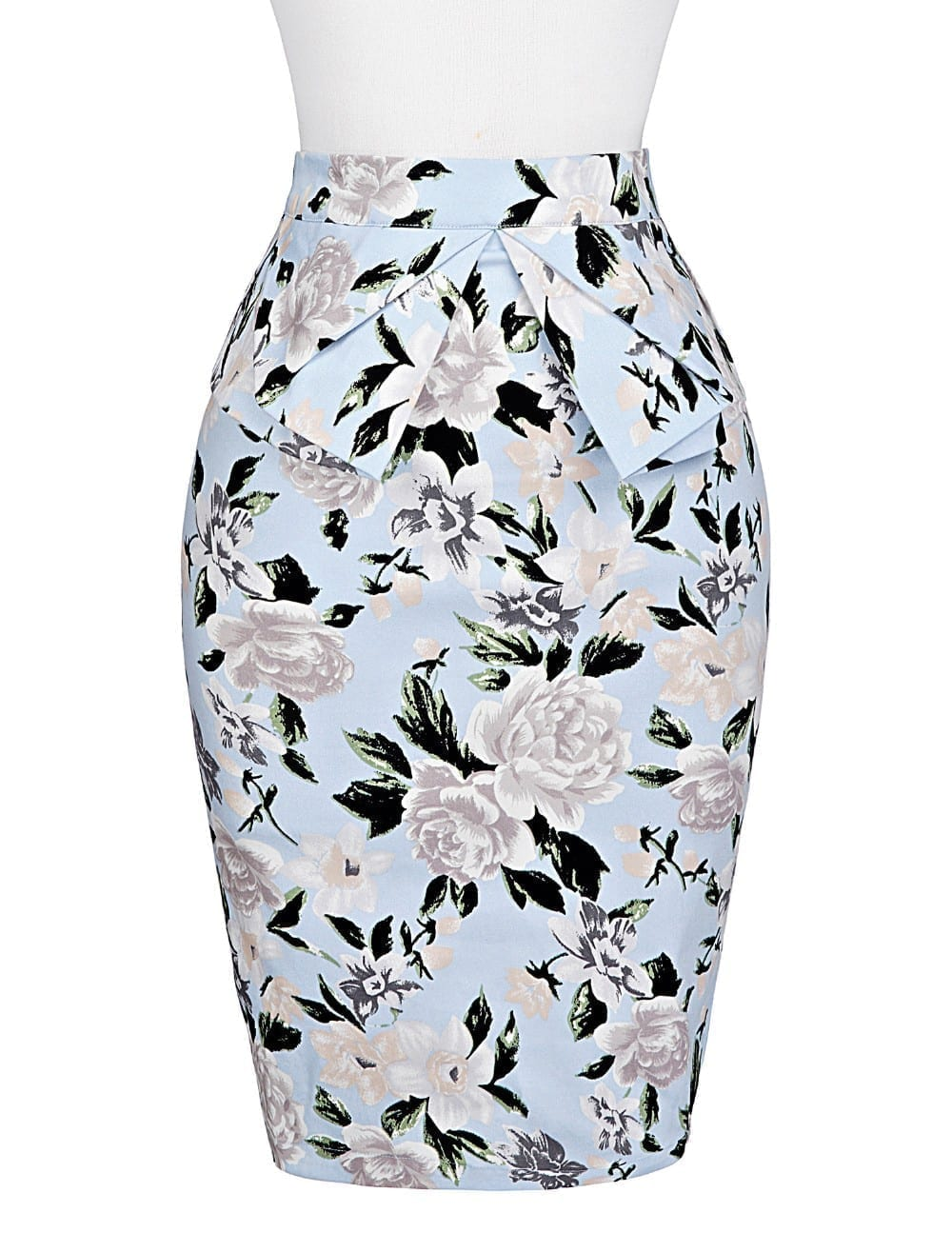 Pencil Bodycon Office Vintage Floral Skirt 5