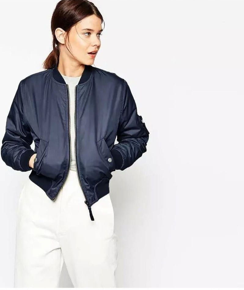 Thin Padded Bomber Jacket Pilots 1