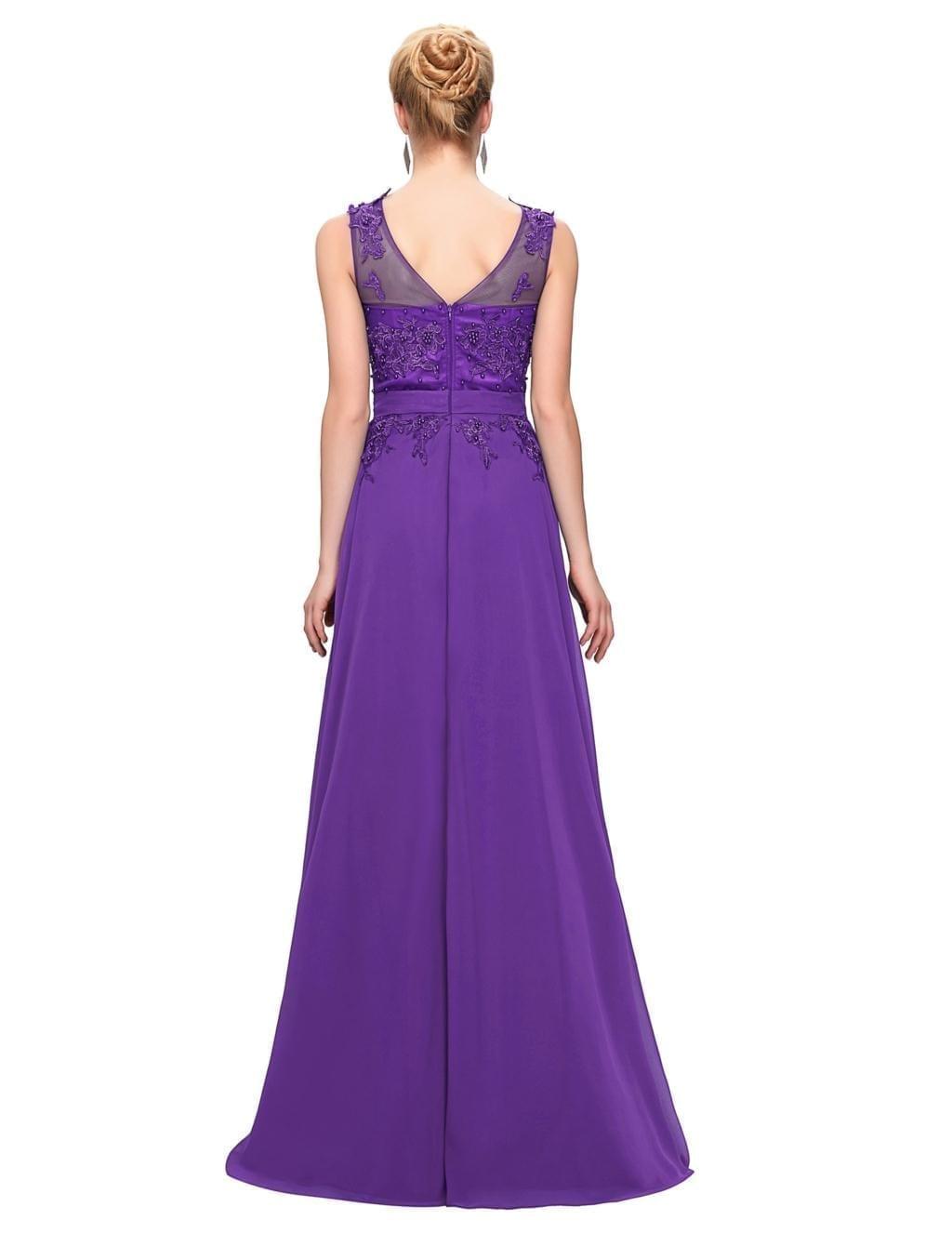 Elegant Floor Length Chiffon Evening Dress