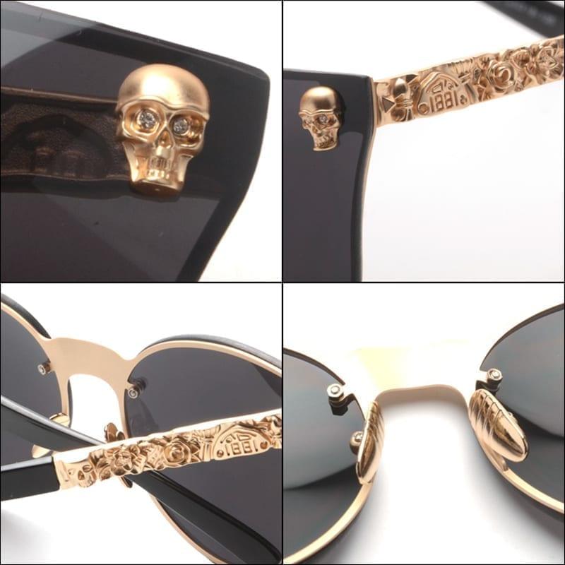 Round Skull Glasses Sunglasses