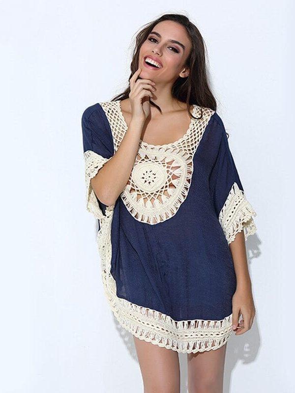 Lace Crochet Knitted Boho Shirt