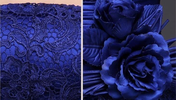 Royal Blue A-Line Short Bridesmaid Dress 2
