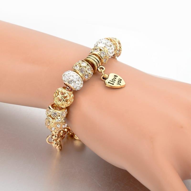 gold heart charm bracelet uniqisticcom