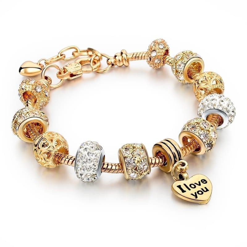 22396aacc pandora bracelet gold 916