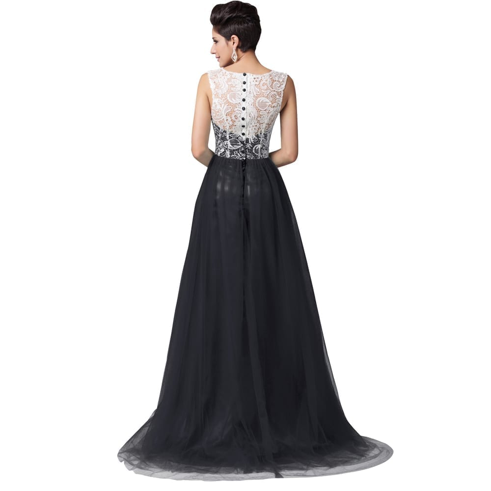 floorlength long lace evening dress uniqisticcom