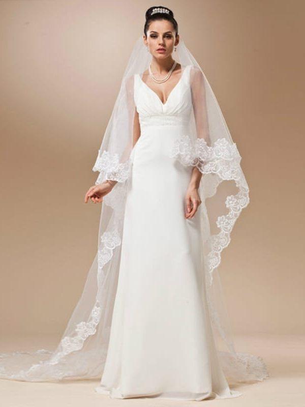 Long Lace Wedding Veil