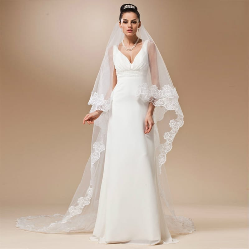 Long Lace Wedding Veil - Uniqistic.com