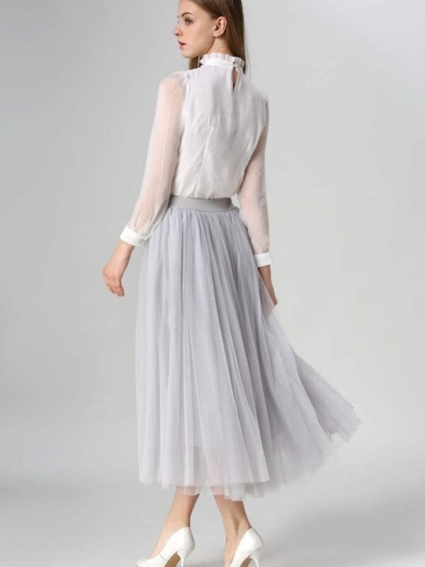 A-line Long Tulle Maxi Midi Skirt