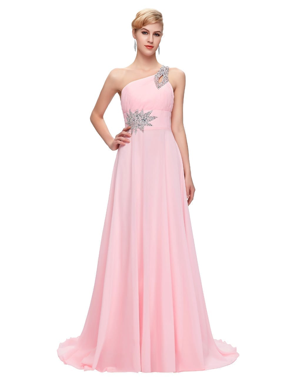 Elegant One Shoulder Long Bridesmaid Dress
