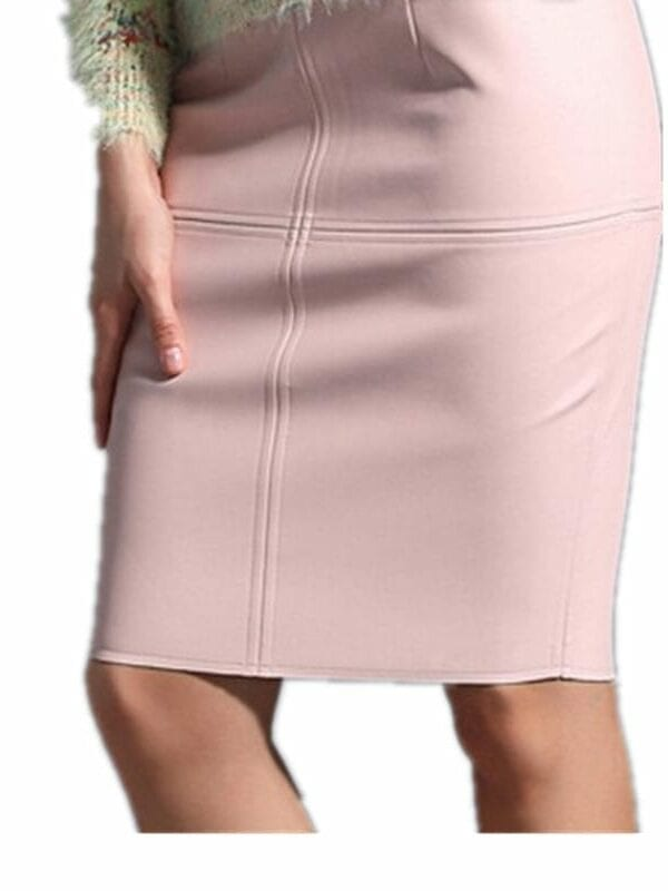 Elegant Leather Pencil Skirt