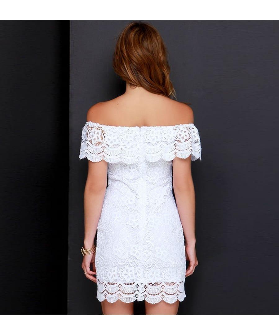 Pretty Lace Mini Dress