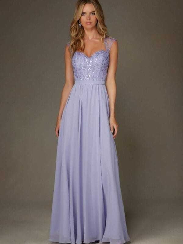 light purple bridesmaid dresses sparkly light purple lilac open back cap sleeves chiffon 12487