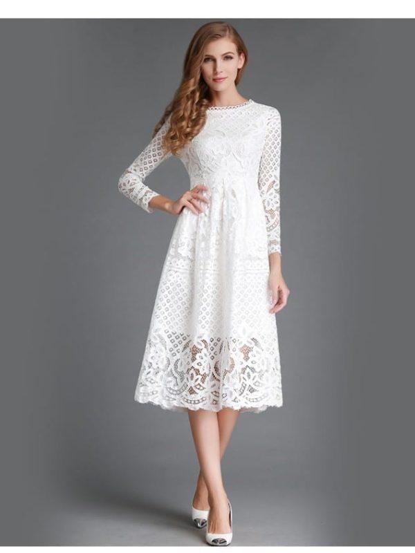 Beauty Long Sleeved Lace Dress